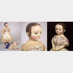 Oil Painted Cloth Izannah Walker Doll
