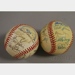 1984 Chicago White Sox Team Autographed Baseball and Another 1980s Baseball Team Autographed Baseball.