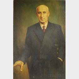 Wallace Rugg (American, 20th Century)      Portrait of Mohammed Mossadegh (Iranian Prime Minister, 1951-1953)