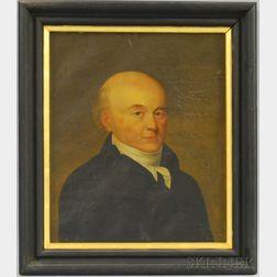 American School, Early 19th Century      Portrait of Gentleman, Possibly John Quincy Adams.