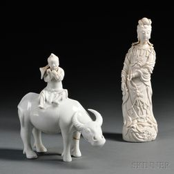 Two Blanc de Chine Figures