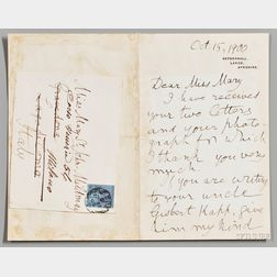 Kelvin, Lord William Thomson (1824-1907) Autograph Letter Signed, 15 October 1900.