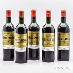 Chateau Brane Cantenac 1955, 5 bottles