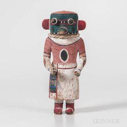 Hopi Polychrome Carved Wood Katsina