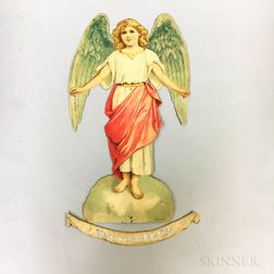 "German ""Gloria in excelsis Deo"" Die-cut Angel-form Display"