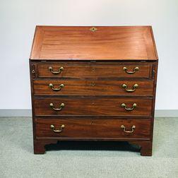 Chippendale Mahogany Slant-lid Desk