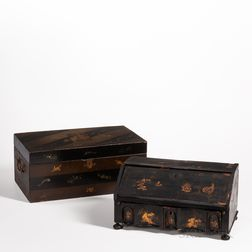 Two Export Portable Lacquer Writing Cases