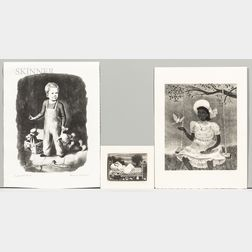 Three Lithographs Published by Associated American Artists      Doris Emrick Lee (American, 1905-1983) Two Works: The Dove