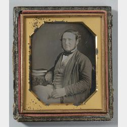 Earliest Known Photograph and Only Known Daguerreotype of Judah P. Benjamin