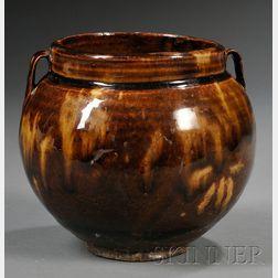 """Jizhou """"Tortoiseshell"""" Glazed Jar"""