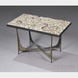 Mid-Century Handmade Mosaic Tile-top Table