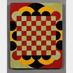 Polychrome-painted Art Deco Game Board