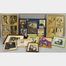 Collection of Framed Actors, Actresses, and Celebrity Autographs, Photographs, and   Memorabilia