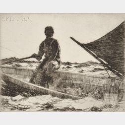 Frank Weston Benson (American, 1862-1951)      Dory Fisherman