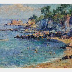 Francis Orville Libby (American, 1883-1961)      Cliff House Beach, Cape Elizabeth, Maine