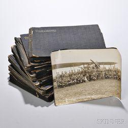 WWI Aviators, Six Photo Albums.