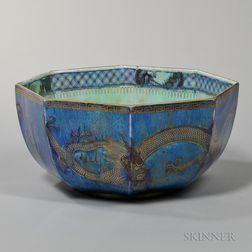 Wedgwood Dragon Lustre Octagonal Bowl