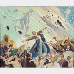 Albert Roanoke Tilburne (American, 1887-1965)      In the Ballroom
