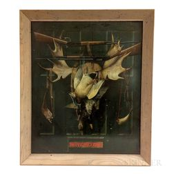 Framed Winchester Tin Advertising Sign