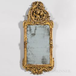 Carved and Gilded Rococo Mirror