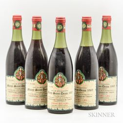 Chanson Morey St. Denis 1969, 5 bottles