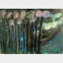 Jules Olitski (American, 1922-2007)      Moonlit Wonder