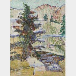 Edmund Quincy (American, 1903-1997)    ...Country Sketch