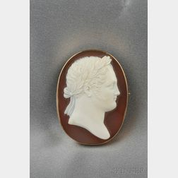 Antique Grand Tour Hardstone Cameo