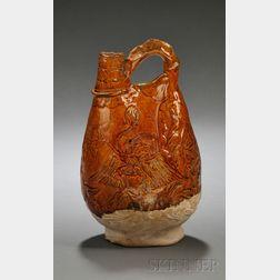 "Glazed Stoneware ""Pouch"" Ewer"
