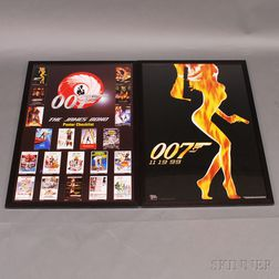 Three James Bond 007 Movie Posters and Three 007-related Posters