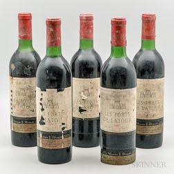 Les Forts de Latour 1967, 5 bottles