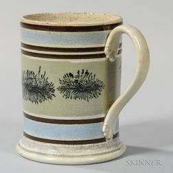 Mocha-decorated Pearlware Pint Mug