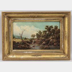 American School, 19th Century    Deer in a Landscape