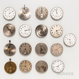 Seventeen Illinois 12 and 13 Size Watch Movements
