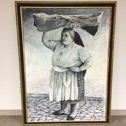 Edwin Dorris (American, 1919-1985)    Varina, 1956