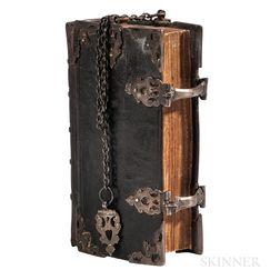 Bible, Dutch New Testament in Girdle Chain Binding, Het Nieuwe Testament.