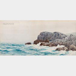 Alfred Thompson Bricher (American, 1837-1908)      Sea and Cliffs, Conanicut [?], R.I.