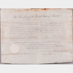 Polk, James Knox (1795-1849) and James Buchanan (1791-1868) Document Signed, 28 July 1848.