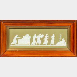 Framed Green Wedgwood Jasperware Plaque