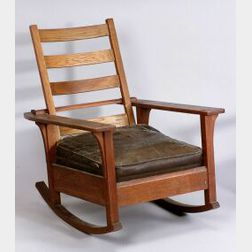 L. & J. G. Stickley Arts & Crafts Oak Rocking Chair