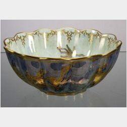Wedgwood Dragon Lustre Scalloped Bowl