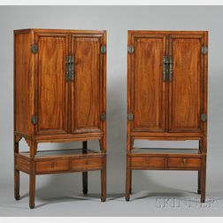 Pair of Camphorwood Cabinets