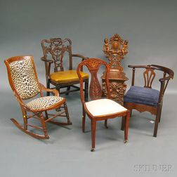 Five Assorted Chairs