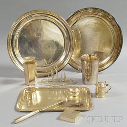 Seven Pieces of Tiffany-retailed Sterling Silver Hollowware