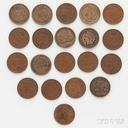 Twenty Flying Eagle and Indian Head Cents