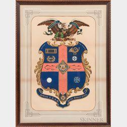Framed Civil War Officer's Memorial Identified to 1st Lieutenant George Edward Craig, 13th Massachusetts Volunteer Infantry