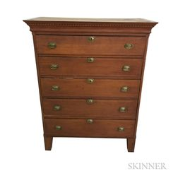 Federal Inlaid Cherry Tall Chest