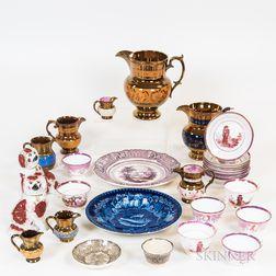 Twenty-nine Pieces of English Ceramic Tableware