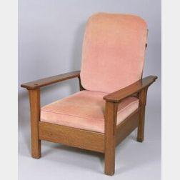 Limbert Arts & Crafts Oak Open-Arm Morris Chair