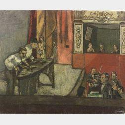 Edmund Quincy (American, 1903-1997)    Vaudeville B.S.Q. Theatre, Boston